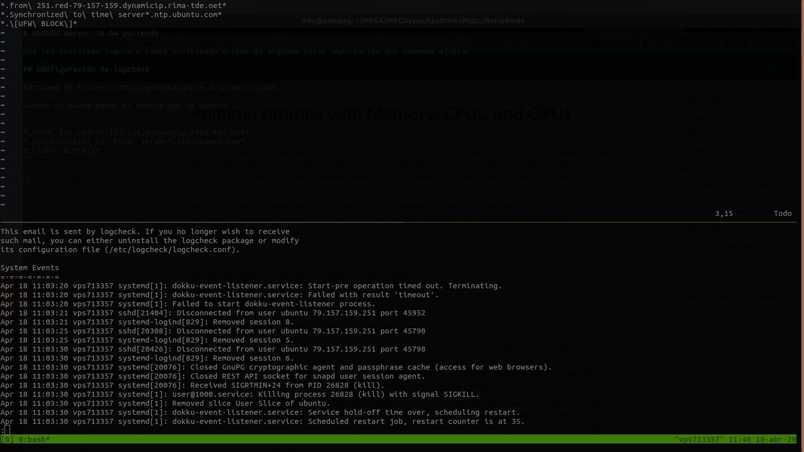 Afinando ubuntu server 18.04